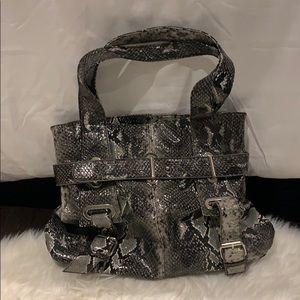 Gray snake skin Bag